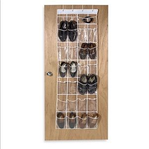 NWOP Crystal Clear 24 Pocket Vinyl Shoe Organizer